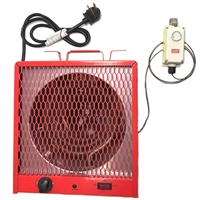 240v Electric Heater with 24v Thermostat Kit  greenhouse, heater, electric, portable, space, 220, 240, plug, in, hobby, garage, shop