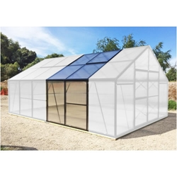 Grow More 6 1/2 Greenhouse Extension for GM13 grow, more, greenhouse, kits, hobby, sale, small, polycarbonate, diy, backyard, winter, garden, extension