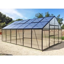 GM13 - Grow More 13 x 13 Greenhouse Kit grow, more, greenhouse, kits, hobby, sale, small, polycarbonate, diy, backyard, winter, garden, aluminum