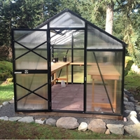 GM8 - Grow More 8' x 11' Greenhouse Kit  grow, more, greenhouse, kits, hobby, sale, small, polycarbonate, diy, backyard, winter, garden, aluminum