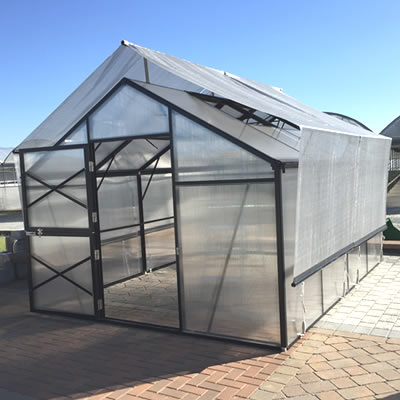"6' 6"" Grow More Raised Shade Kit for GM10, GM13, & GM16 grow, more, greenhouse, kits, hobby, sale, small, polycarbonate, diy, backyard, winter, garden, aluminum"