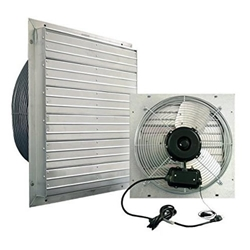 Multi Speed Exhaust Fans  fan, cooling, greenhouse, multiple, speed, shop, exhaust, ventilation,  garage, shutter, louvered