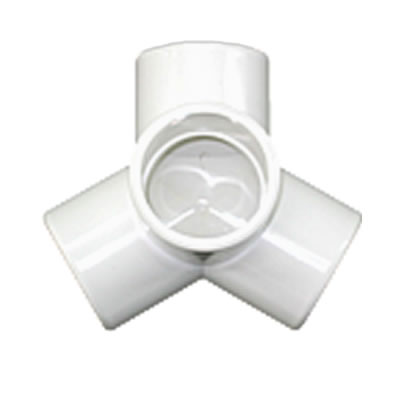 "PVC Fitting - 4 Way Y Connector 1 1/4"" pvc, fittings, pipe, connectors, furniture, schedule, 40, projects, specialty, 4, way, Y, table, base"