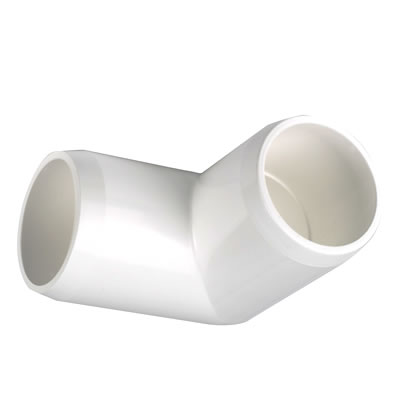 PVC Fitting - 90 Elbow Connector pvc, fittings, pipe, connectors, furniture, schedule, 40, projects, specialty, 90, elbow