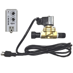 Plug In Solenoid Valve + Timer Combo water, control, valve, misting, mist, low, pressure, 120, volt, brass, greenhouse, auto