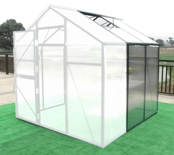 Solar Harvest 4 1/2 Greenhouse Extension solar, harvest, greenhouse, kits, hobby, sale, small, polycarbonate, diy, backyard, winter, garden, extension