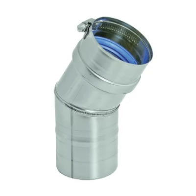Stainless Steel Category 3 Vent 30 Degree Elbow vent, flue, duct, pipe, furnace, exhaust, gas, modine, sterling, heater, category, elbow, 30, degree