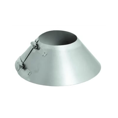 Stainless Steel Category 3 Vent Storm Collar vent, flue, duct, pipe, furnace, exhaust, gas, modine, sterling, heater, category, storm, collar
