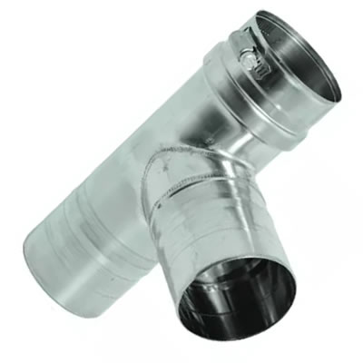 Stainless Steel Category 3 Vent Tee vent, flue, duct, pipe, furnace, exhaust, gas, modine, sterling, heater, category, tee