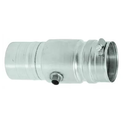 "Stainless Steel Category 3 Vent 5"" Universal Drain vent, flue, duct, pipe, furnace, exhaust, gas, modine, sterling, heater, category, drain, condensate"
