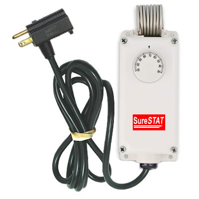 SureStat TS116 Plug In Portable Thermostat Control thermostat, plug, in, portable, control, heater, fan, greenhouse, garage, shop, room, home, ac