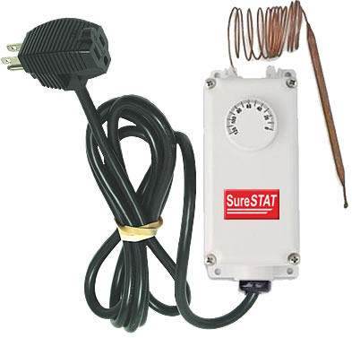 SureStat TS306H Portable Thermostat + Remote Sensor thermostat, water, proof, greenhouse, remote, sensor, surestat, temperature, control, plug, in, portable, heat