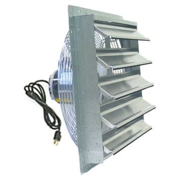 Variable Speed Exhaust Fans fan, cooling, greenhouse, variable, speed, shop, exhaust, ventilation,  garage, shutter, louvered, vent