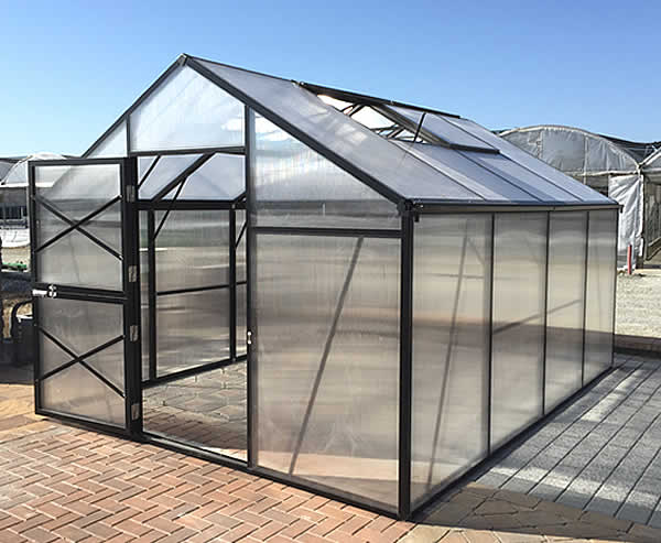 GM10 - Grow More 10 x 13 Greenhouse Kit grow, more, greenhouse, kits, hobby, sale, small, polycarbonate, diy, backyard, winter, garden, price, low