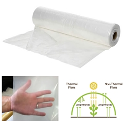 6 mil Thermal Greenhouse Film (Custom Cut) greenhouse, film, plastic, poly, custom, cut, 6, mil, uv, polyethylene, clear, thermal, wide