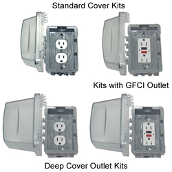 Waterproof Outlet Kits greenhouse, electrical, outlet, water, proof, covered, kit, in-use, box, use, in