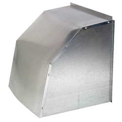 Fan & Shutter Weather Hood  weather, hood, fan, greenhouse, shutter, louver, galvanized, steel, cover, protection, wind, severe, snow