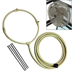 "3/8"" Flexible Fan Mist Rings mist, ring, fan, misting, mister, cooling, cooler, air, water, cool, greenhouse, outdoor"