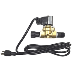 Plug In Watering / Misting Solenoid Valve water, control, valve, misting, mist, low, pressure, 120, volt, brass, greenhouse, auto