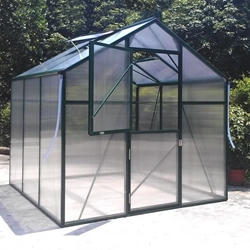Solar Harvest 7 x 7 Greenhouse Kit greenhouse, solar, harvest, small, diy, cheap, kit, backyard, garden, polycarbonate, aluminum, buy, sale, home