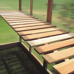Redwood Benches for 6 Wide Sunshine Greenhouses