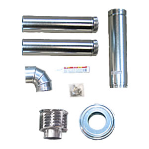 Sterling TF / XF Category 1 Horizontal Vent Kit sterling, vent, kit, tf, heater, horizontal, pipe, greenhouse, xf, category, 1, one, galvanized, duct